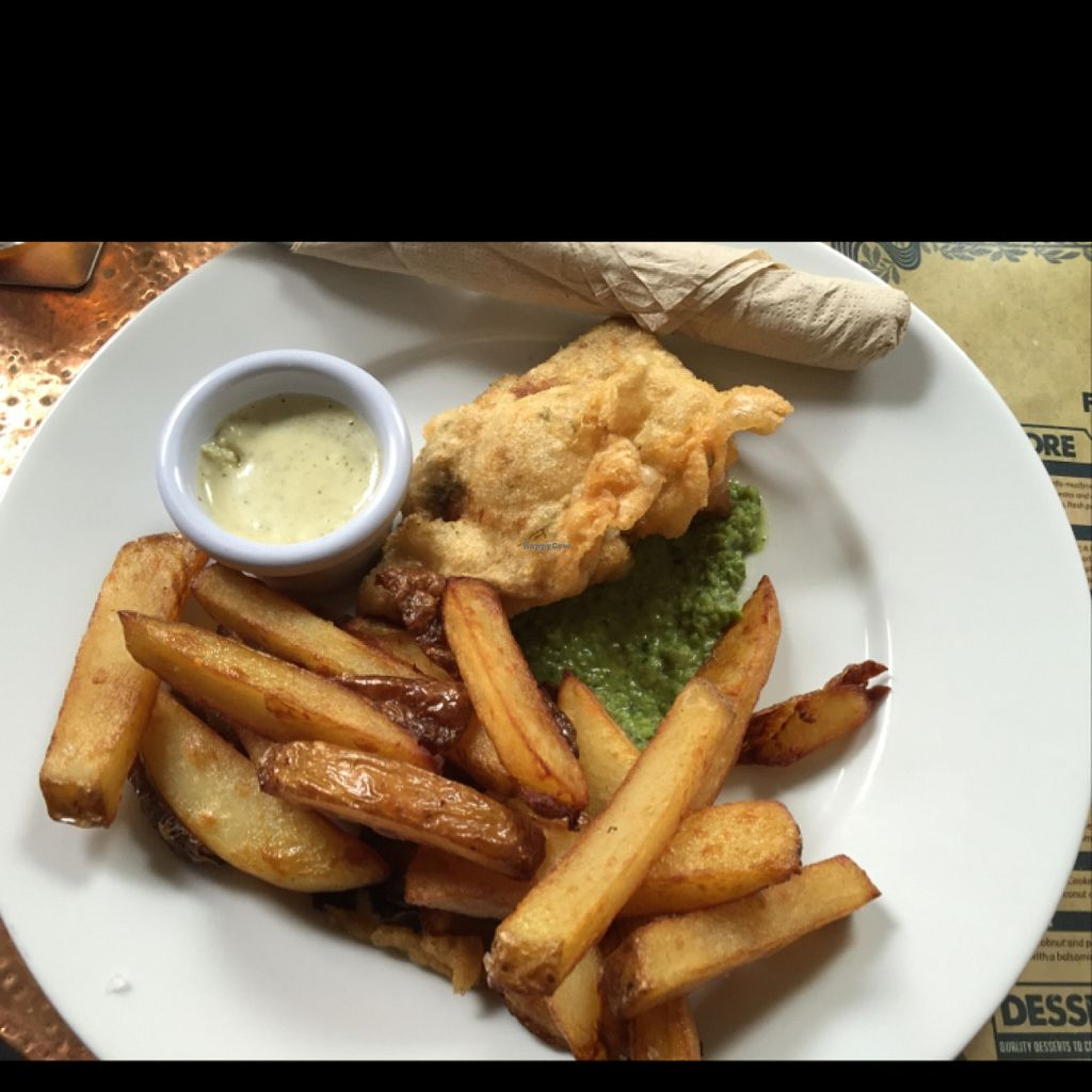 "Photo of The Angel Microbrewery  by <a href=""/members/profile/Chris_D"">Chris_D</a> <br/>Vegan fish and chips <br/> July 21, 2016  - <a href='/contact/abuse/image/76085/161405'>Report</a>"
