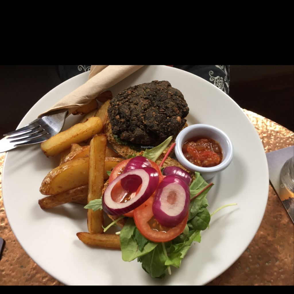 "Photo of The Angel Microbrewery  by <a href=""/members/profile/Chris_D"">Chris_D</a> <br/>Vegan burger <br/> July 21, 2016  - <a href='/contact/abuse/image/76085/161406'>Report</a>"