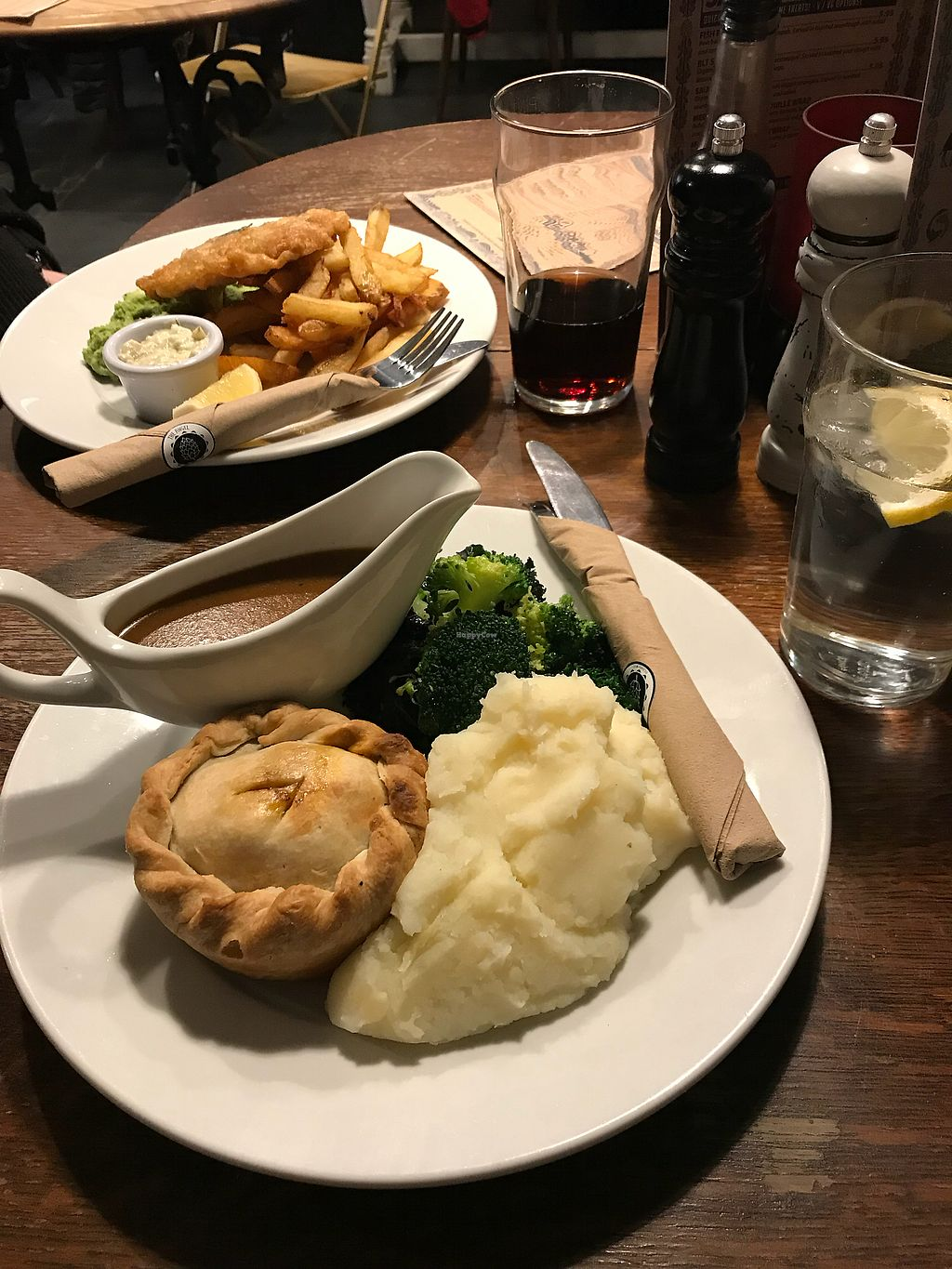 "Photo of The Angel Microbrewery  by <a href=""/members/profile/WeronikaPajor"">WeronikaPajor</a> <br/>Lovely vegan pie and ""fish"" and chips <br/> March 9, 2018  - <a href='/contact/abuse/image/76085/368630'>Report</a>"