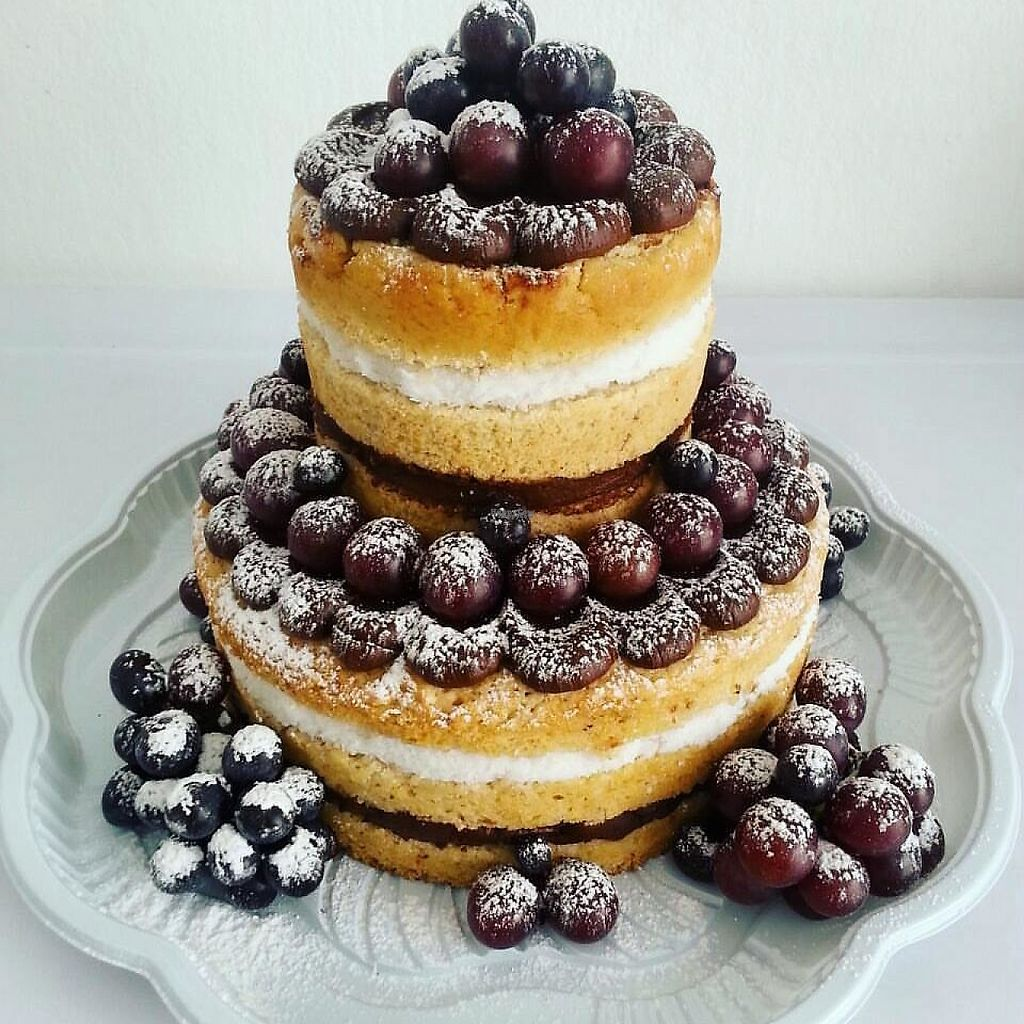 """Photo of Pandas Barbaros  by <a href=""""/members/profile/Barbaradsa"""">Barbaradsa</a> <br/>""""Kostr"""". Vanilla cake with chocolate, coconut and grapes <br/> February 22, 2017  - <a href='/contact/abuse/image/76109/229444'>Report</a>"""