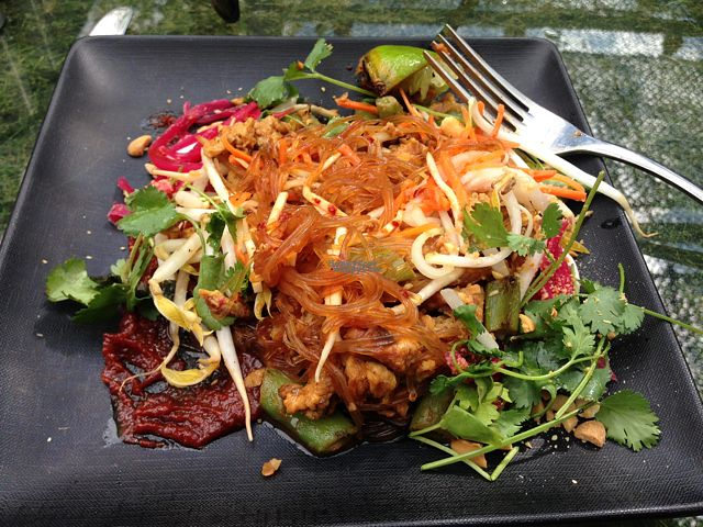 """Photo of Vital Root  by <a href=""""/members/profile/JenRoss"""">JenRoss</a> <br/>pad Thai noodles are made with beets <br/> September 6, 2016  - <a href='/contact/abuse/image/76123/174023'>Report</a>"""