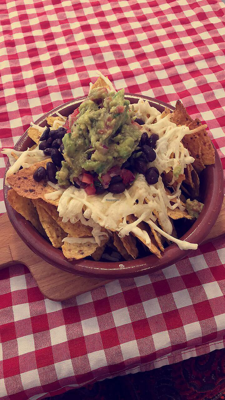 """Photo of Distrito Vegano  by <a href=""""/members/profile/Clopy"""">Clopy</a> <br/>Vegan nachos with cheese and guacamole on top <br/> August 14, 2017  - <a href='/contact/abuse/image/76138/292513'>Report</a>"""