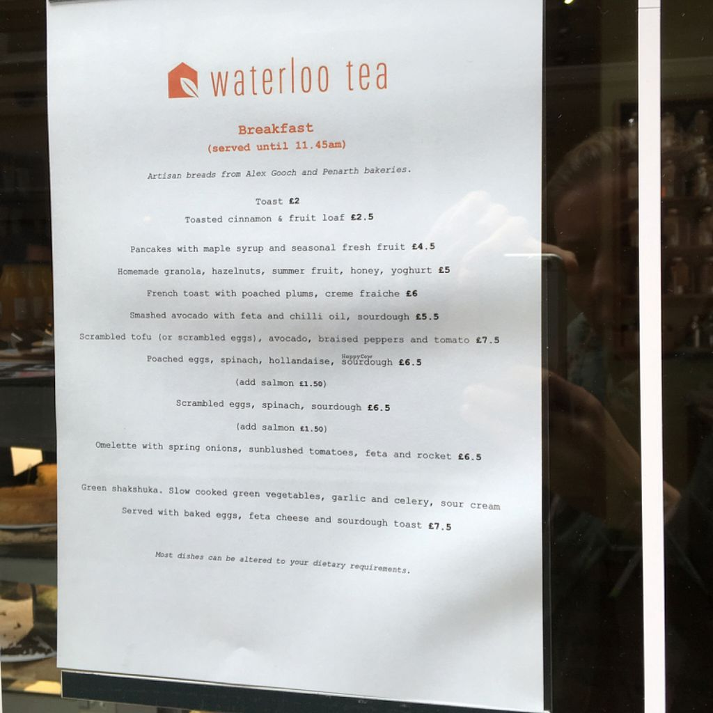 """Photo of Waterloo Tea  by <a href=""""/members/profile/Spaghetti_monster"""">Spaghetti_monster</a> <br/>breakfast menu <br/> July 7, 2016  - <a href='/contact/abuse/image/76141/158254'>Report</a>"""