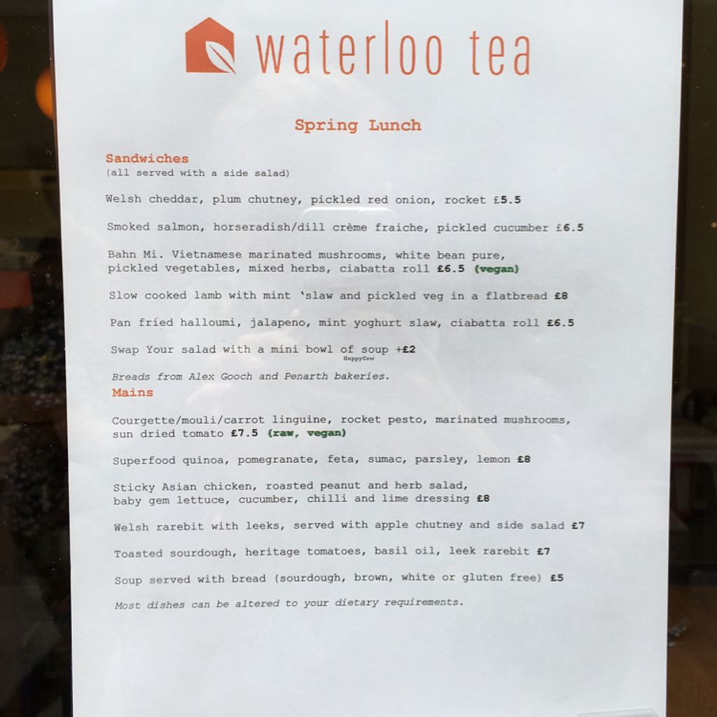 """Photo of Waterloo Tea  by <a href=""""/members/profile/Spaghetti_monster"""">Spaghetti_monster</a> <br/>lunch menu  <br/> July 7, 2016  - <a href='/contact/abuse/image/76141/158255'>Report</a>"""