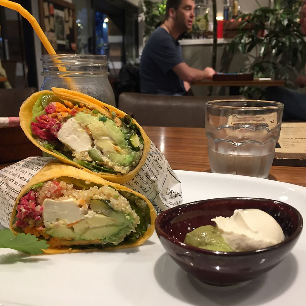 "Photo of Mr Farmer Omotesando  by <a href=""/members/profile/Kels415"">Kels415</a> <br/>quinoa, tofu, and avocado wrap served with vegan mayo.  <br/> May 14, 2017  - <a href='/contact/abuse/image/76178/258593'>Report</a>"