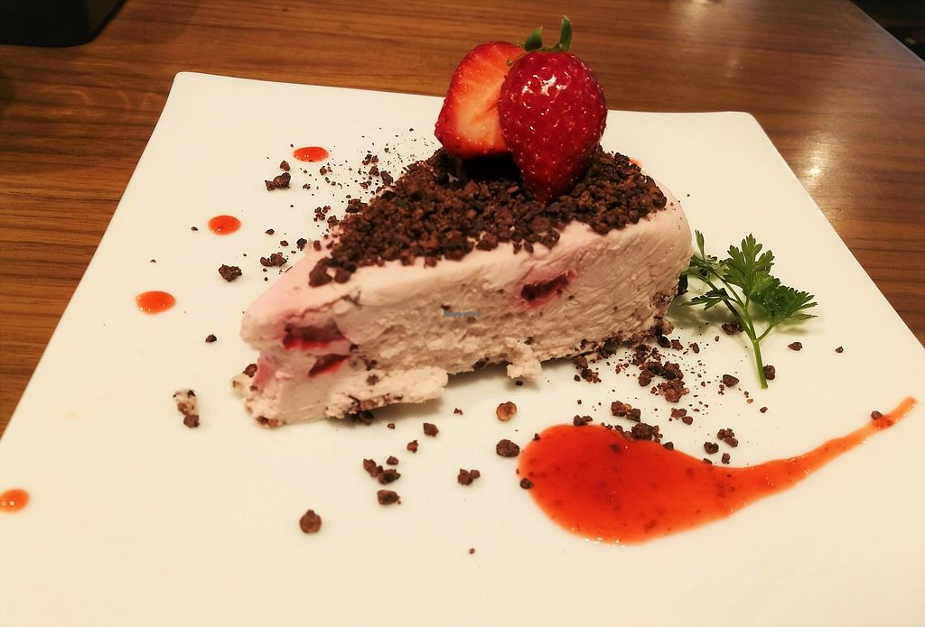 "Photo of Mr Farmer Omotesando  by <a href=""/members/profile/Vegan%20Yoko"">Vegan Yoko</a> <br/>strawberry vegan cheese cake  <br/> June 27, 2017  - <a href='/contact/abuse/image/76178/273857'>Report</a>"