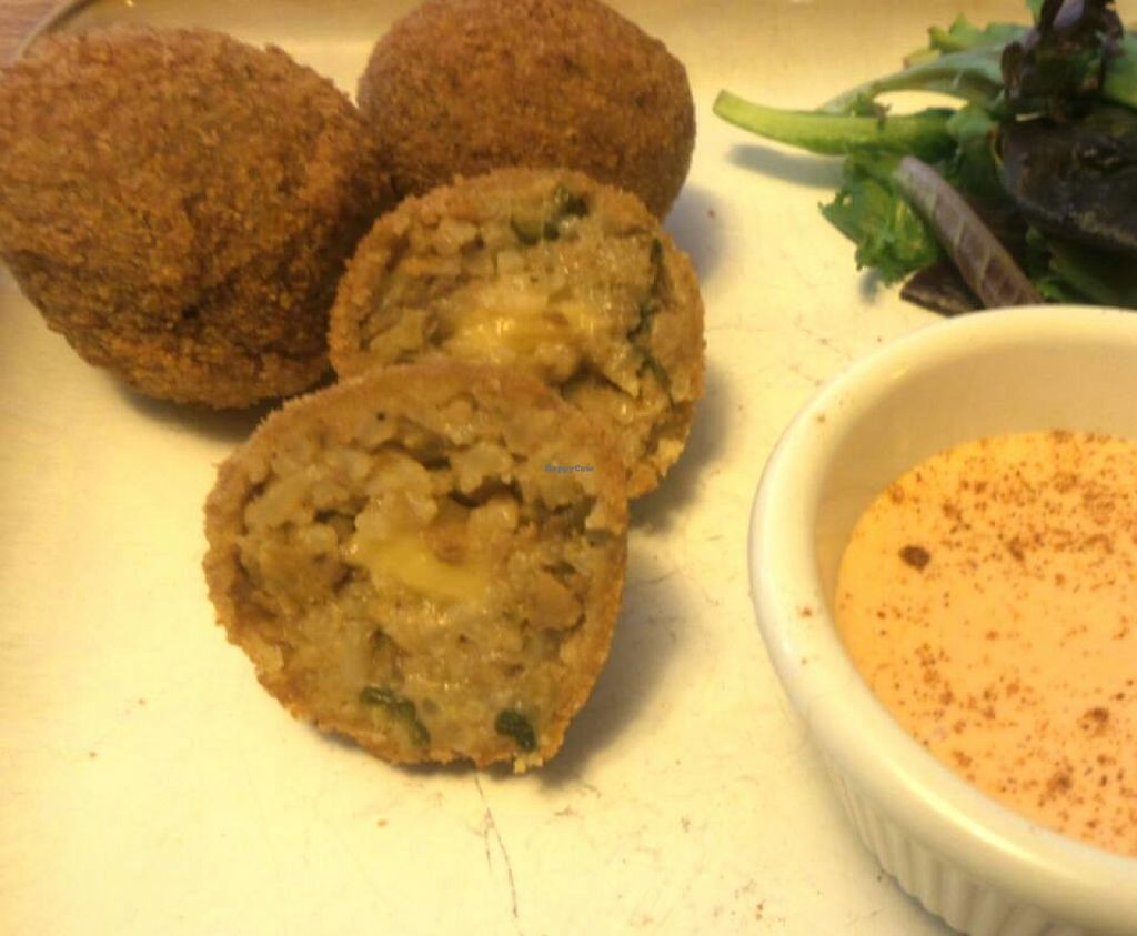 """Photo of Bayou Vegan Cafe  by <a href=""""/members/profile/Veggie%20Rebel"""">Veggie Rebel</a> <br/>V Boudin Balls! <br/> July 8, 2016  - <a href='/contact/abuse/image/76182/158506'>Report</a>"""