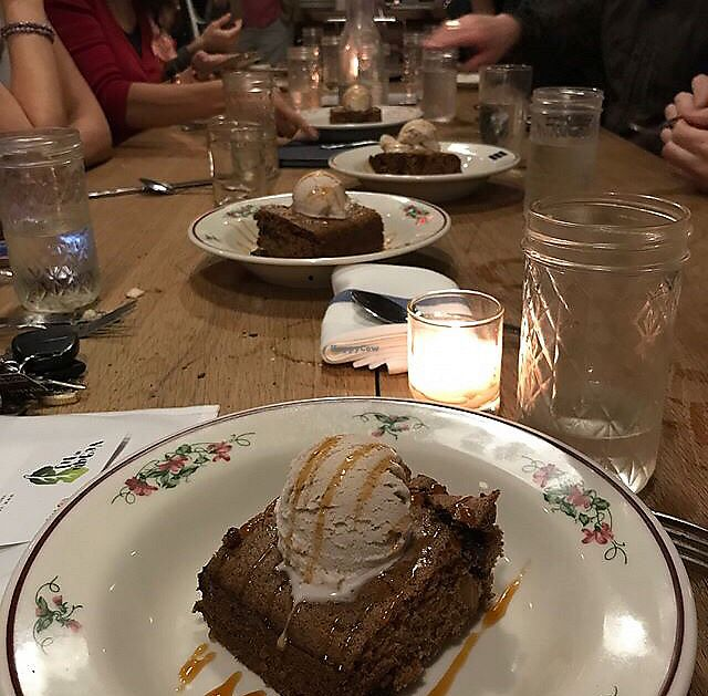 """Photo of Talula's Pizza  by <a href=""""/members/profile/Isamara"""">Isamara</a> <br/>Pumpkin cake with vegan ice cream  <br/> October 29, 2017  - <a href='/contact/abuse/image/76216/319680'>Report</a>"""
