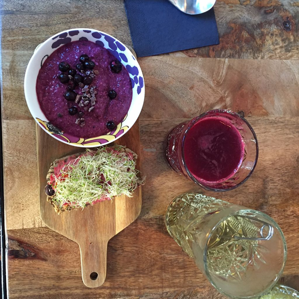 "Photo of Roots  by <a href=""/members/profile/NaomiMW"">NaomiMW</a> <br/>breakfast set with beetroot juice <br/> April 28, 2017  - <a href='/contact/abuse/image/76224/253525'>Report</a>"