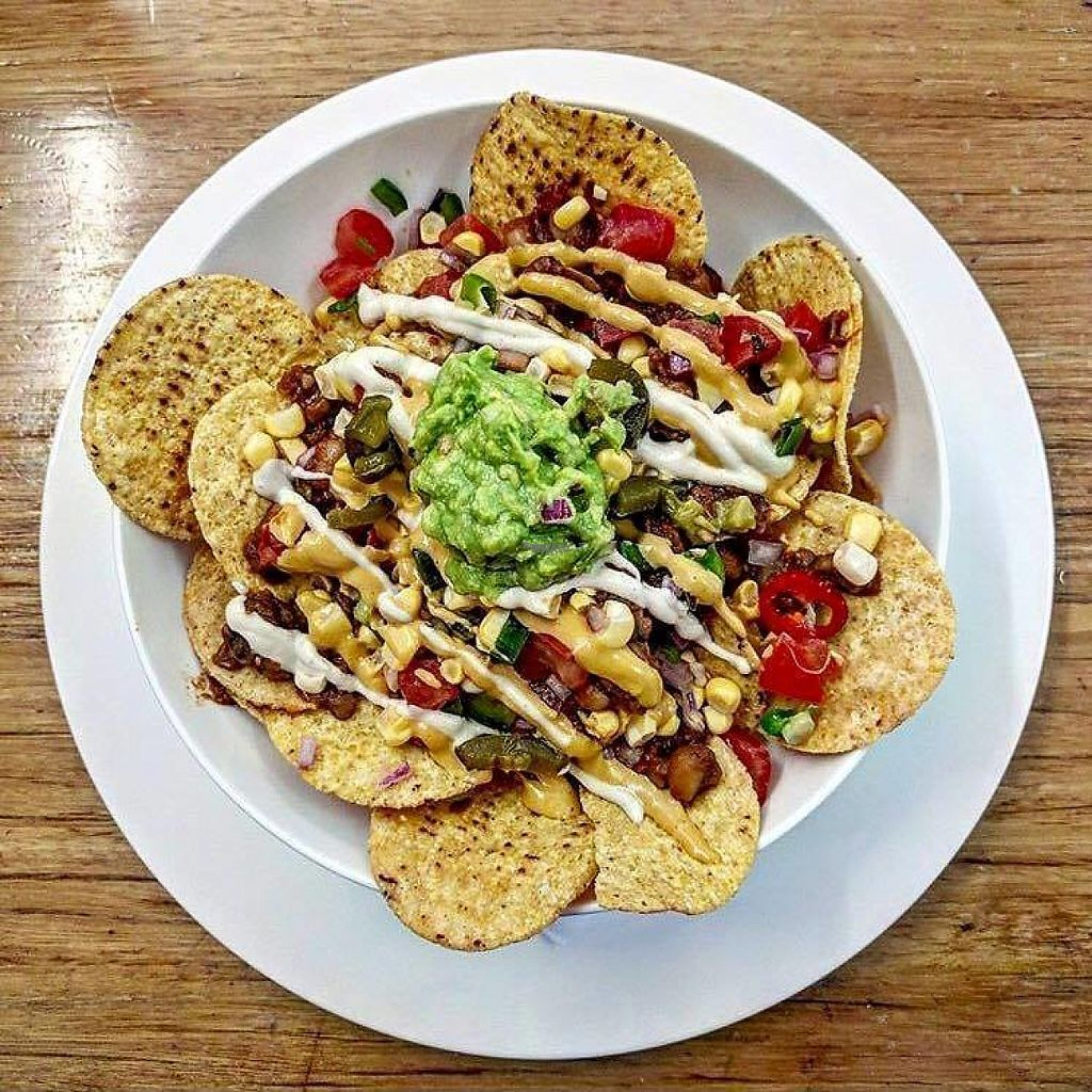"""Photo of Raw + More Cafe  by <a href=""""/members/profile/pb1987"""">pb1987</a> <br/>amazing vegan and gluten free nachos <br/> December 8, 2016  - <a href='/contact/abuse/image/76225/198198'>Report</a>"""