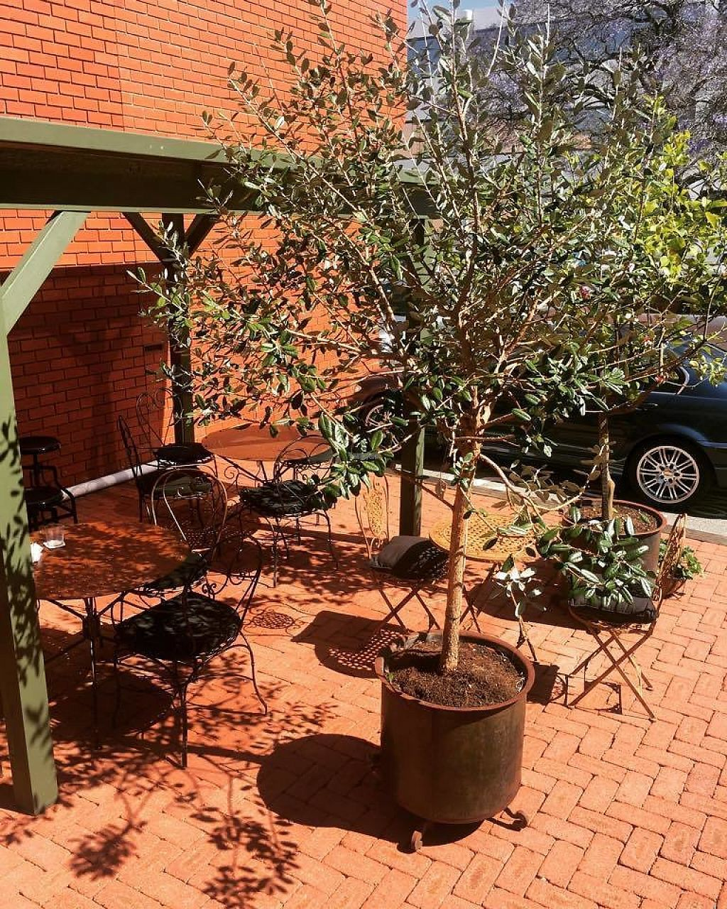 """Photo of Raw + More Cafe  by <a href=""""/members/profile/pb1987"""">pb1987</a> <br/>outdoor seating area at back  <br/> December 8, 2016  - <a href='/contact/abuse/image/76225/198200'>Report</a>"""