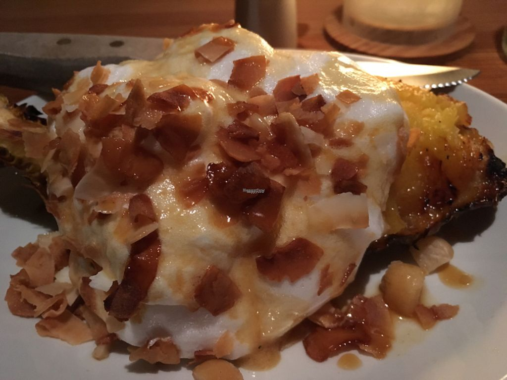"""Photo of Nix  by <a href=""""/members/profile/mike1366"""">mike1366</a> <br/>grilled pineapple with macadamia nuts and soy whipped cream.  <br/> January 16, 2017  - <a href='/contact/abuse/image/76235/212408'>Report</a>"""