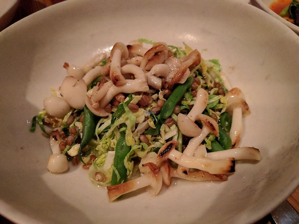 """Photo of Nix  by <a href=""""/members/profile/steveveg"""">steveveg</a> <br/>Roasted mushrooms, farro & brussels sprouts  <br/> January 28, 2017  - <a href='/contact/abuse/image/76235/218189'>Report</a>"""