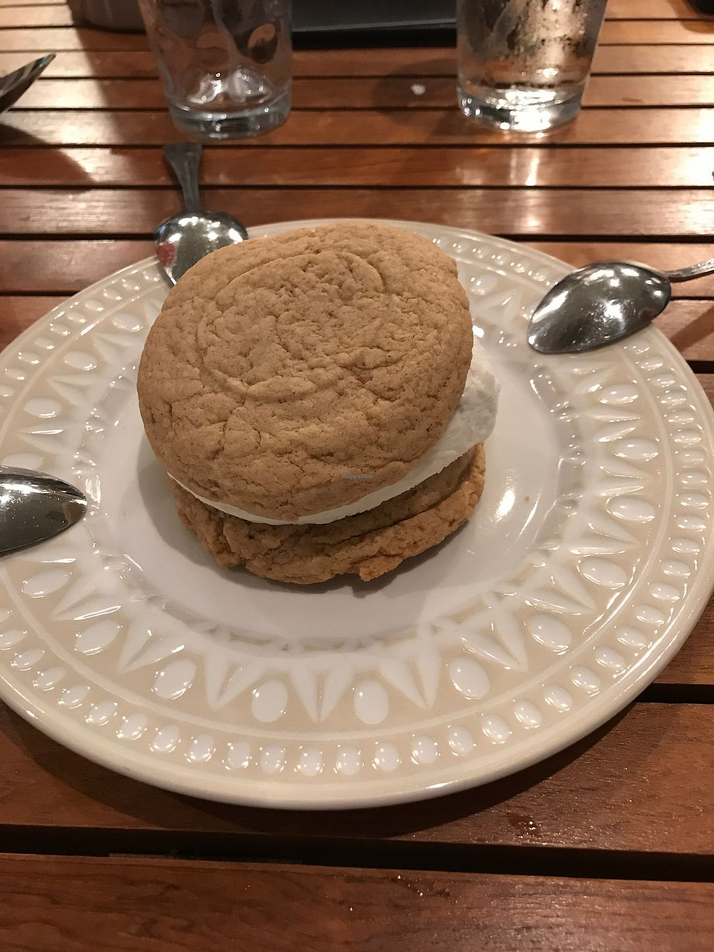 "Photo of Holi Vegan Kitchen & Bar  by <a href=""/members/profile/zoealexiswong"">zoealexiswong</a> <br/>vanilla ice cream sandwich on a peanut butter cookie  <br/> August 4, 2017  - <a href='/contact/abuse/image/76286/288440'>Report</a>"