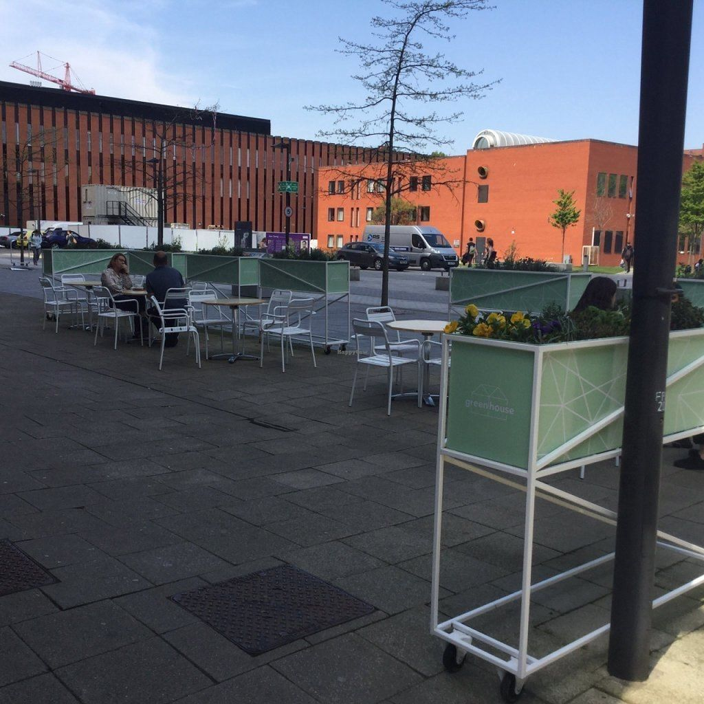 """Photo of Greenhouse Cafe  by <a href=""""/members/profile/astronemma"""">astronemma</a> <br/>Outside seating area <br/> July 11, 2016  - <a href='/contact/abuse/image/76327/159139'>Report</a>"""