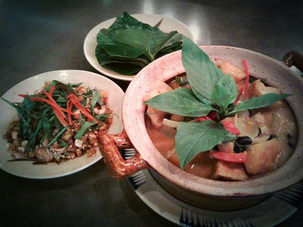 """Photo of Pi Vegetarian Bistro  by <a href=""""/members/profile/RunEatWorld"""">RunEatWorld</a> <br/>Pumpkin curry and lemongrass chilli wraps <br/> July 23, 2017  - <a href='/contact/abuse/image/76356/283595'>Report</a>"""