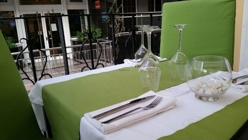 """Photo of CLOSED: Daniela - Creative Vegan Cuisine  by <a href=""""/members/profile/lararos99"""">lararos99</a> <br/>The table setting <br/> July 11, 2016  - <a href='/contact/abuse/image/76361/159285'>Report</a>"""
