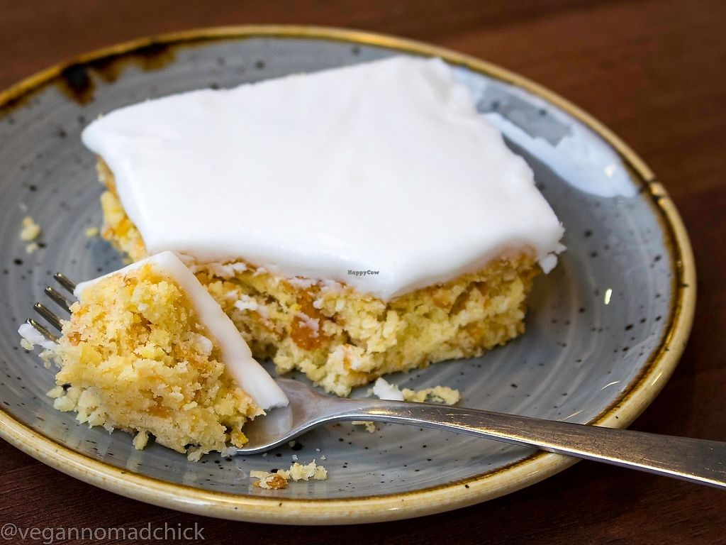 """Photo of The Flame Tree Cafe  by <a href=""""/members/profile/vegannomadchick"""">vegannomadchick</a> <br/>Coconut cornflake cake! <br/> May 6, 2017  - <a href='/contact/abuse/image/76399/256201'>Report</a>"""