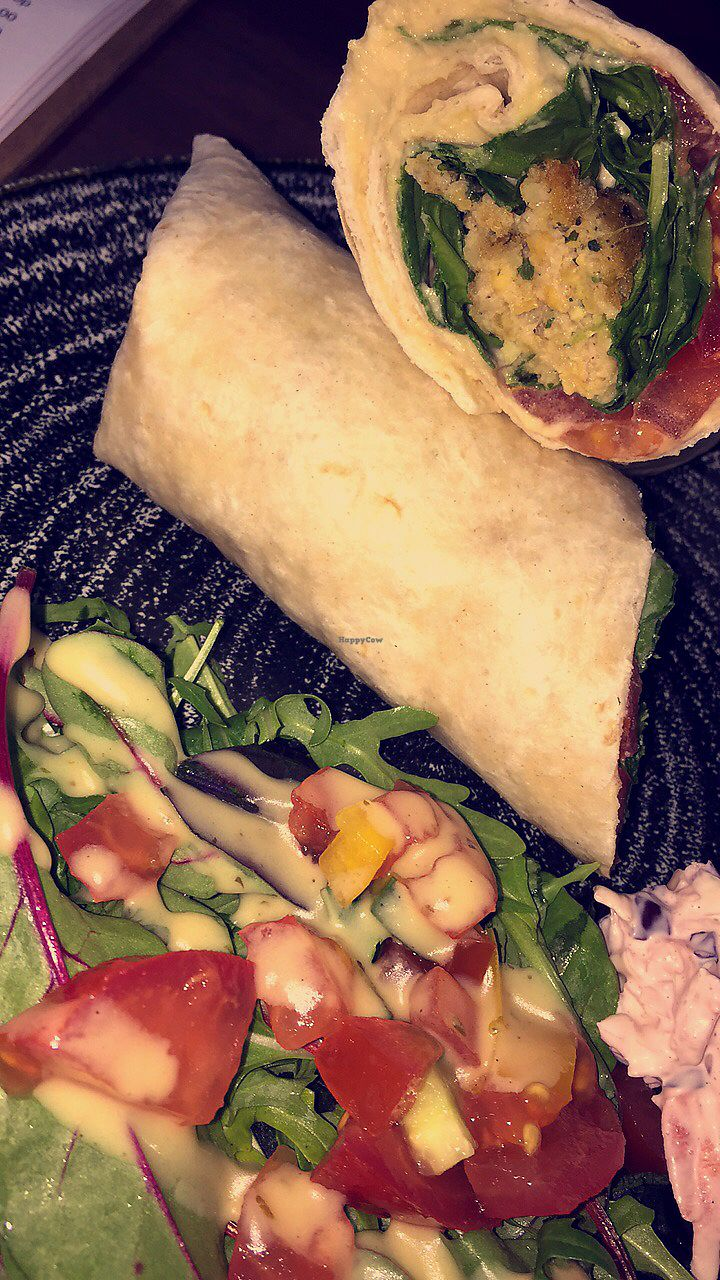 """Photo of The Flame Tree Cafe  by <a href=""""/members/profile/veg_x"""">veg_x</a> <br/>Flaffel wrap with salad <br/> July 7, 2017  - <a href='/contact/abuse/image/76399/277410'>Report</a>"""