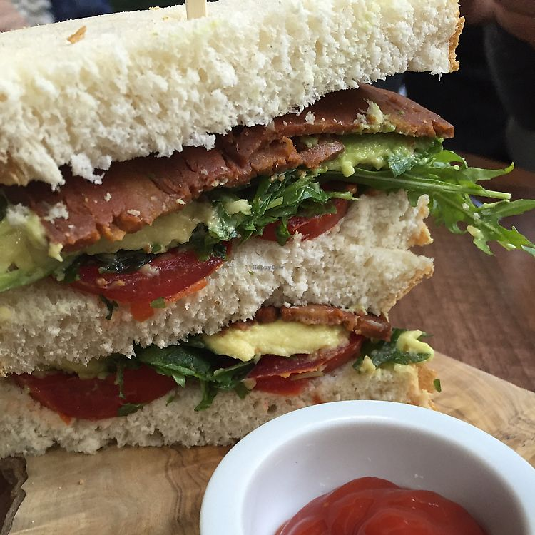 """Photo of The Flame Tree Cafe  by <a href=""""/members/profile/DonnaC"""">DonnaC</a> <br/>vegan BLT wth avocado <br/> December 10, 2017  - <a href='/contact/abuse/image/76399/334326'>Report</a>"""