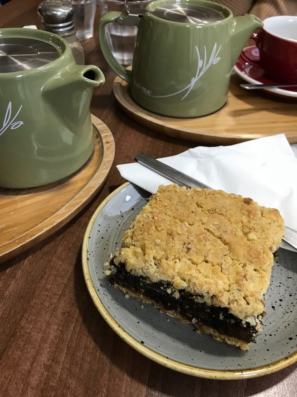 """Photo of The Flame Tree Cafe  by <a href=""""/members/profile/AshleighC"""">AshleighC</a> <br/>Vegan Date Crumble  <br/> February 19, 2018  - <a href='/contact/abuse/image/76399/361397'>Report</a>"""