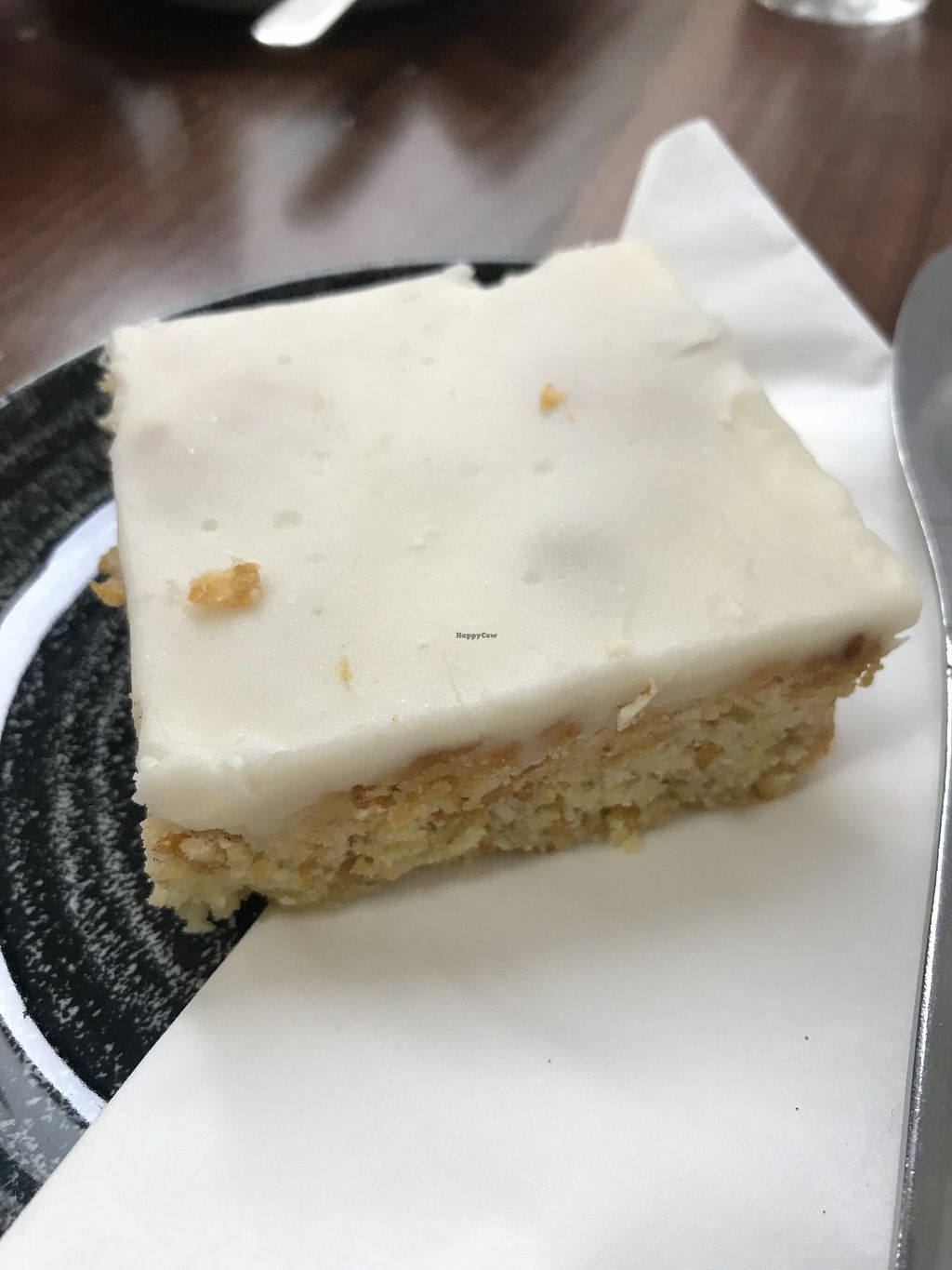 """Photo of The Flame Tree Cafe  by <a href=""""/members/profile/AshleighC"""">AshleighC</a> <br/>Vegan cornflake coconut crunch traybake <br/> February 19, 2018  - <a href='/contact/abuse/image/76399/361401'>Report</a>"""
