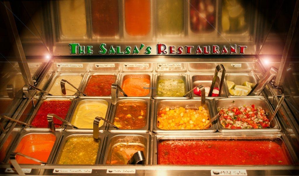 "Photo of The Salsas Restaurant  by <a href=""/members/profile/TiffanyBinikos"">TiffanyBinikos</a> <br/>Fresh Salsa Bar <br/> July 17, 2016  - <a href='/contact/abuse/image/76401/160357'>Report</a>"