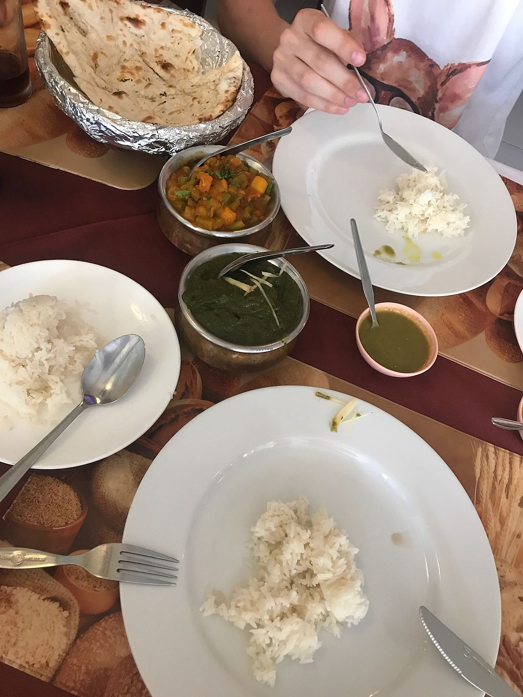 "Photo of Noori India  by <a href=""/members/profile/Saja1982"">Saja1982</a> <br/>mixed veggie curry and potato and spinachsauce  <br/> July 22, 2017  - <a href='/contact/abuse/image/76424/283142'>Report</a>"