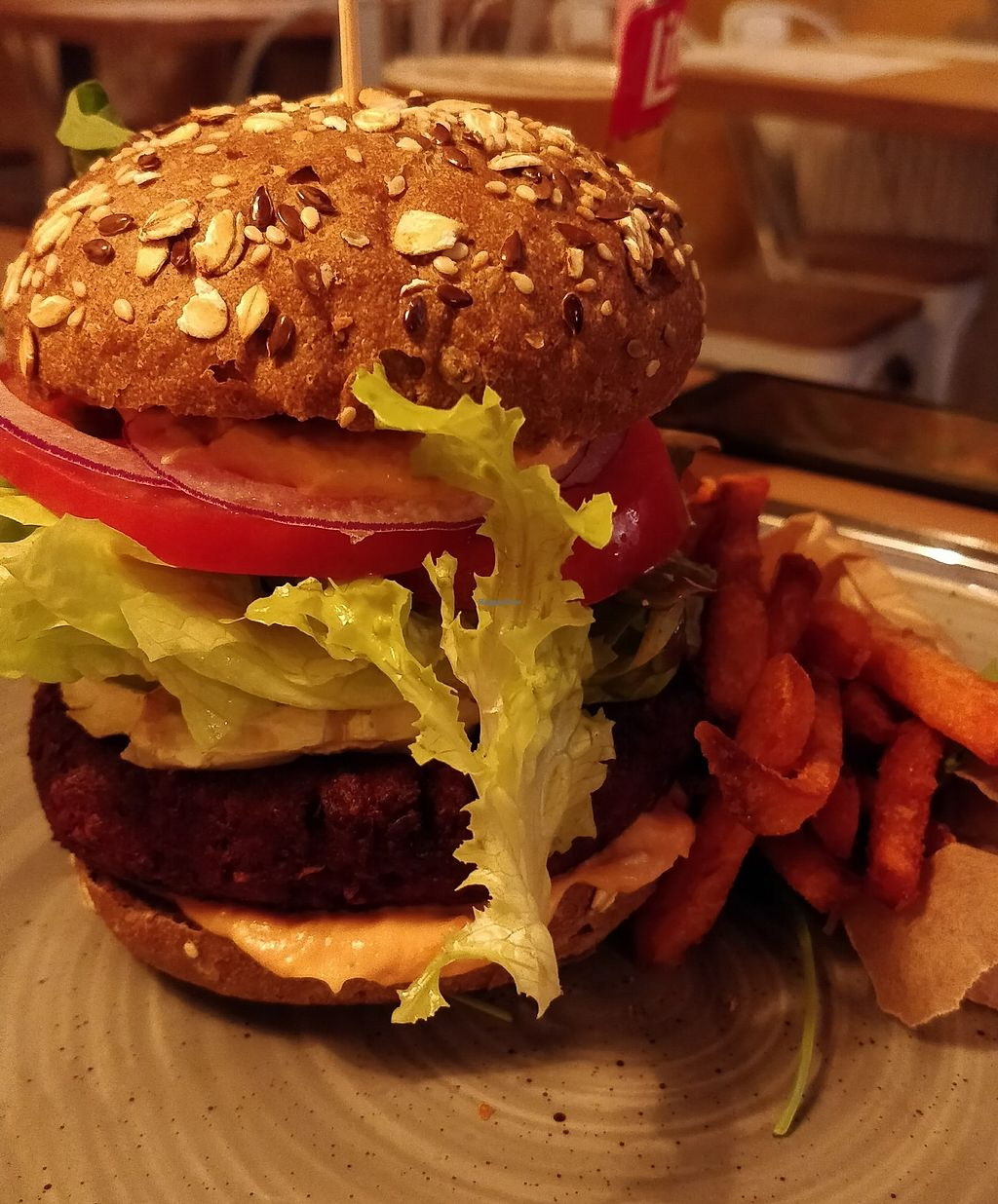 """Photo of Veganic  by <a href=""""/members/profile/ashyda"""">ashyda</a> <br/>Vegan burger <br/> December 6, 2017  - <a href='/contact/abuse/image/76428/332927'>Report</a>"""