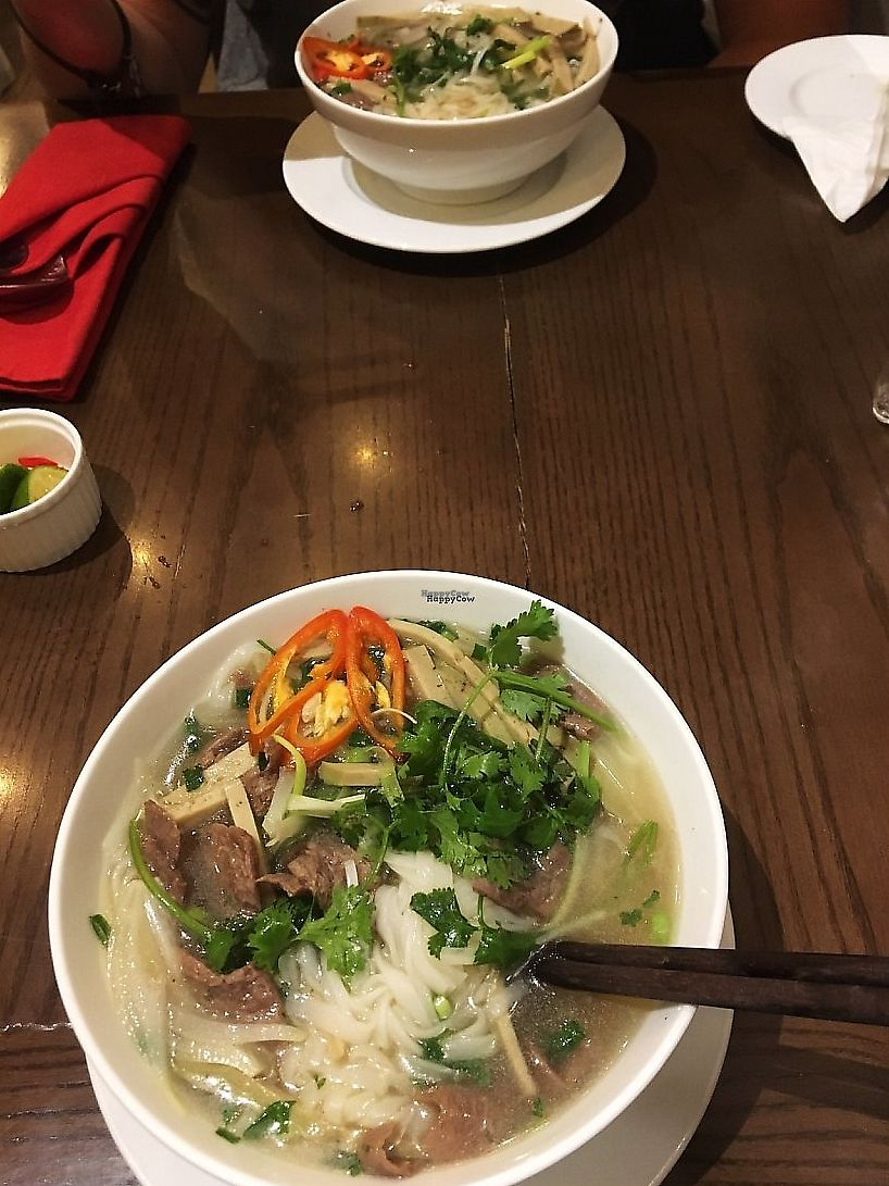 """Photo of Minh Chay - Au Trieu  by <a href=""""/members/profile/tilly.p"""">tilly.p</a> <br/>Vegan pho! <br/> December 13, 2017  - <a href='/contact/abuse/image/76463/337606'>Report</a>"""