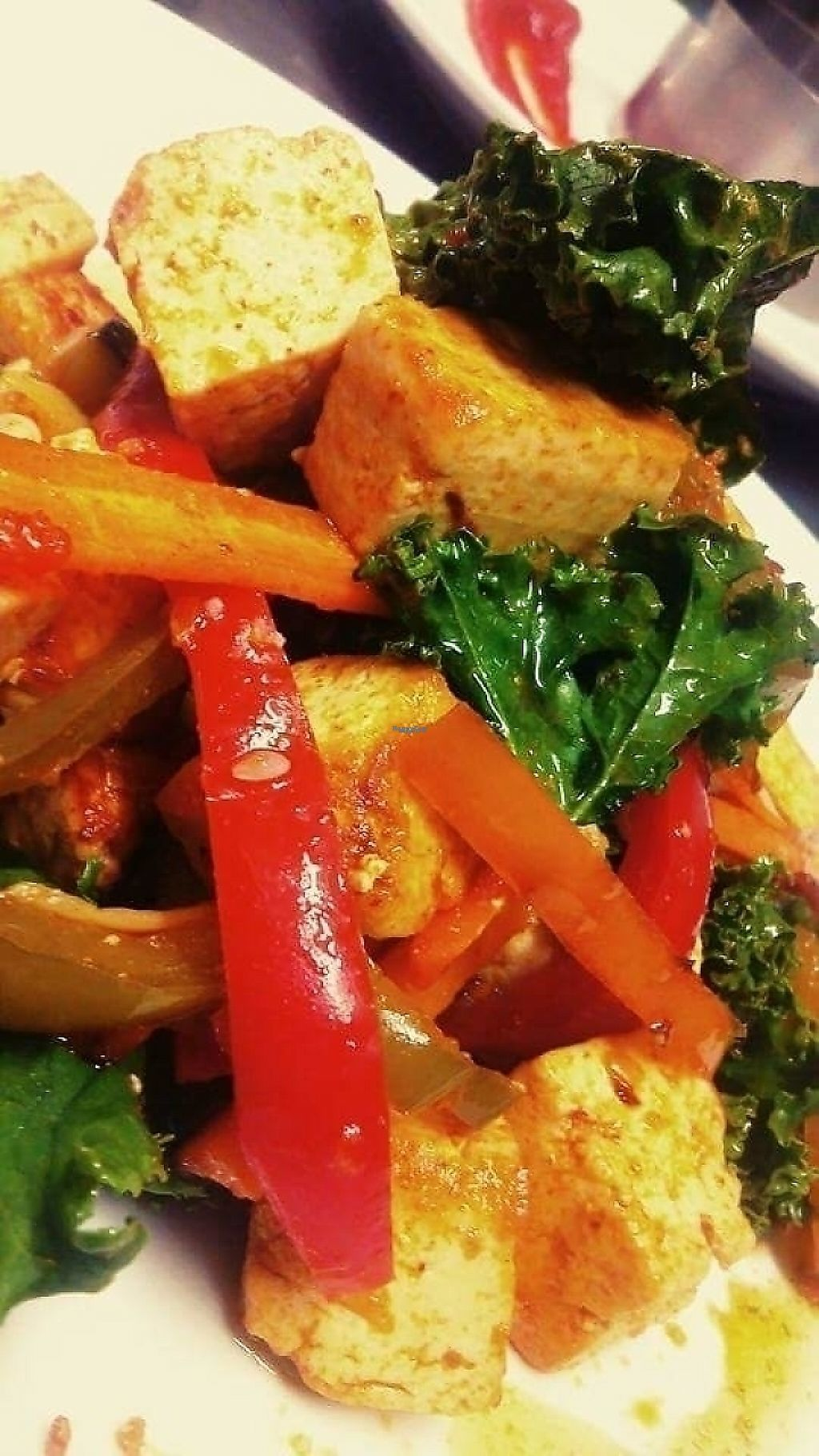 """Photo of El Fogon Verde  by <a href=""""/members/profile/Andrea13"""">Andrea13</a> <br/>Marinated tofu with vegetables  <br/> August 25, 2016  - <a href='/contact/abuse/image/76468/209554'>Report</a>"""