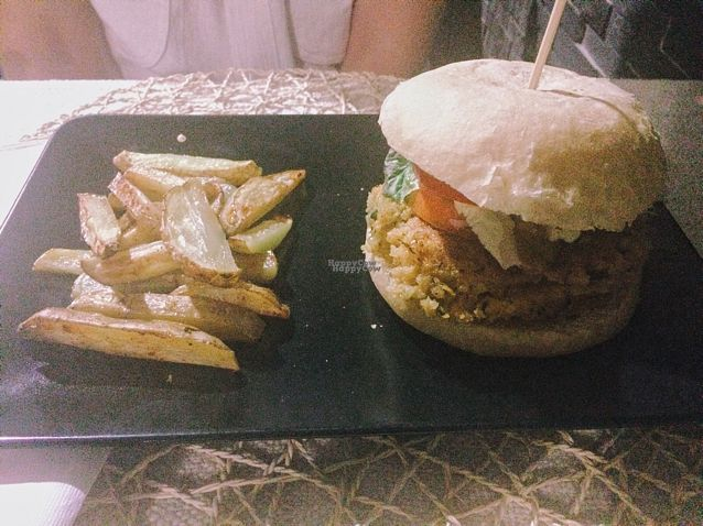 """Photo of Cookaluzka  by <a href=""""/members/profile/irislovs"""">irislovs</a> <br/>American vegan burger <br/> September 3, 2016  - <a href='/contact/abuse/image/76497/173281'>Report</a>"""