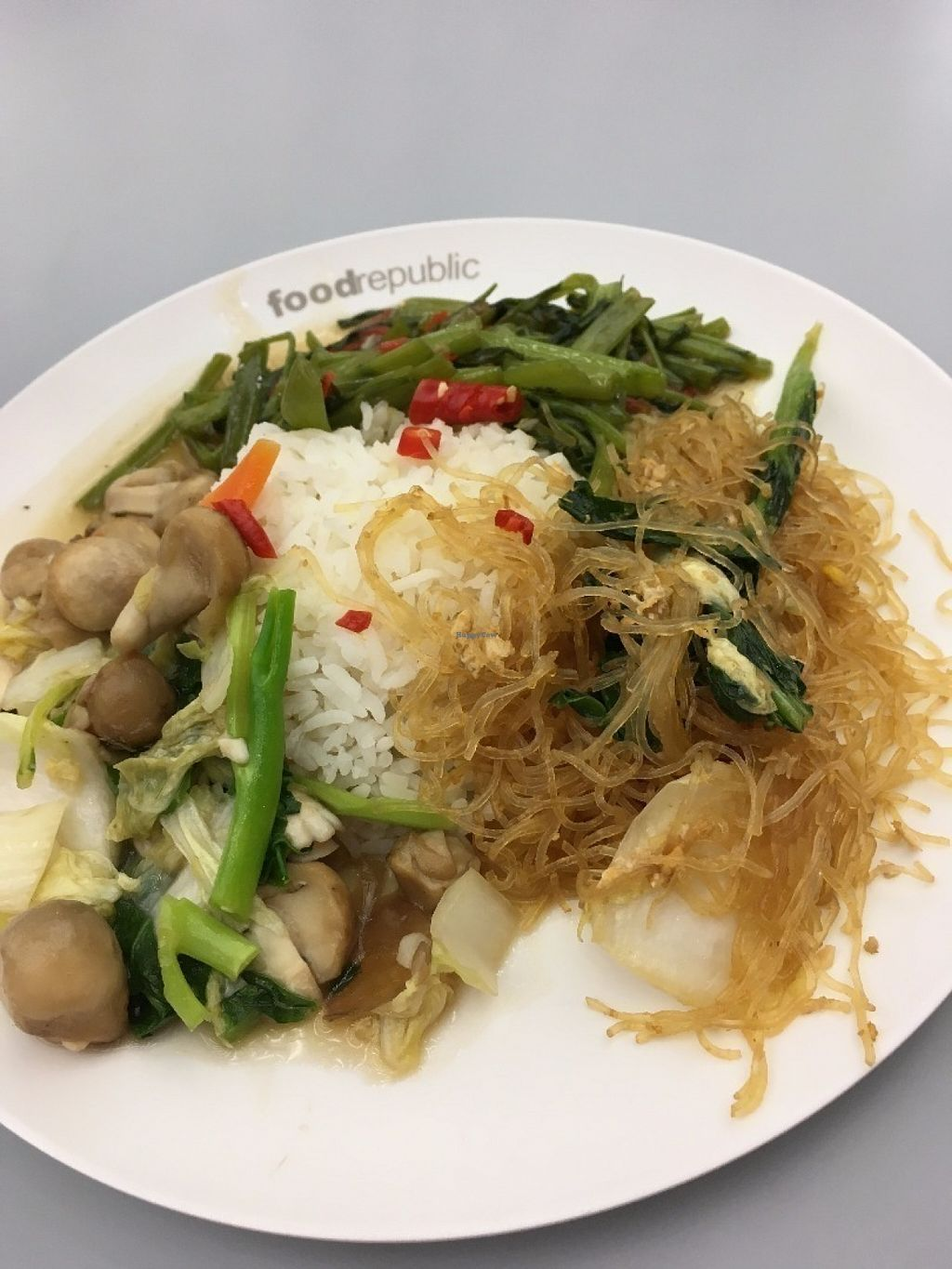 "Photo of Porridge A-La-Carte  by <a href=""/members/profile/Chungche%20Huang"">Chungche Huang</a> <br/>What I ordered, 3 dishes with rice, 70 Baht <br/> July 15, 2016  - <a href='/contact/abuse/image/76558/159932'>Report</a>"