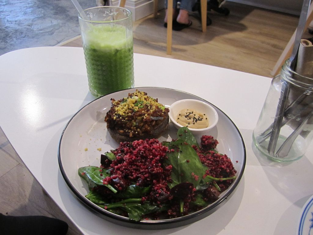 "Photo of CLOSED: Jujuberry+Co  by <a href=""/members/profile/berrygirl"">berrygirl</a> <br/>Miso-stuffed Mushroom with Beetroot Quinoa Salad and Cashew Cheese Dressing <br/> October 19, 2016  - <a href='/contact/abuse/image/76563/182898'>Report</a>"