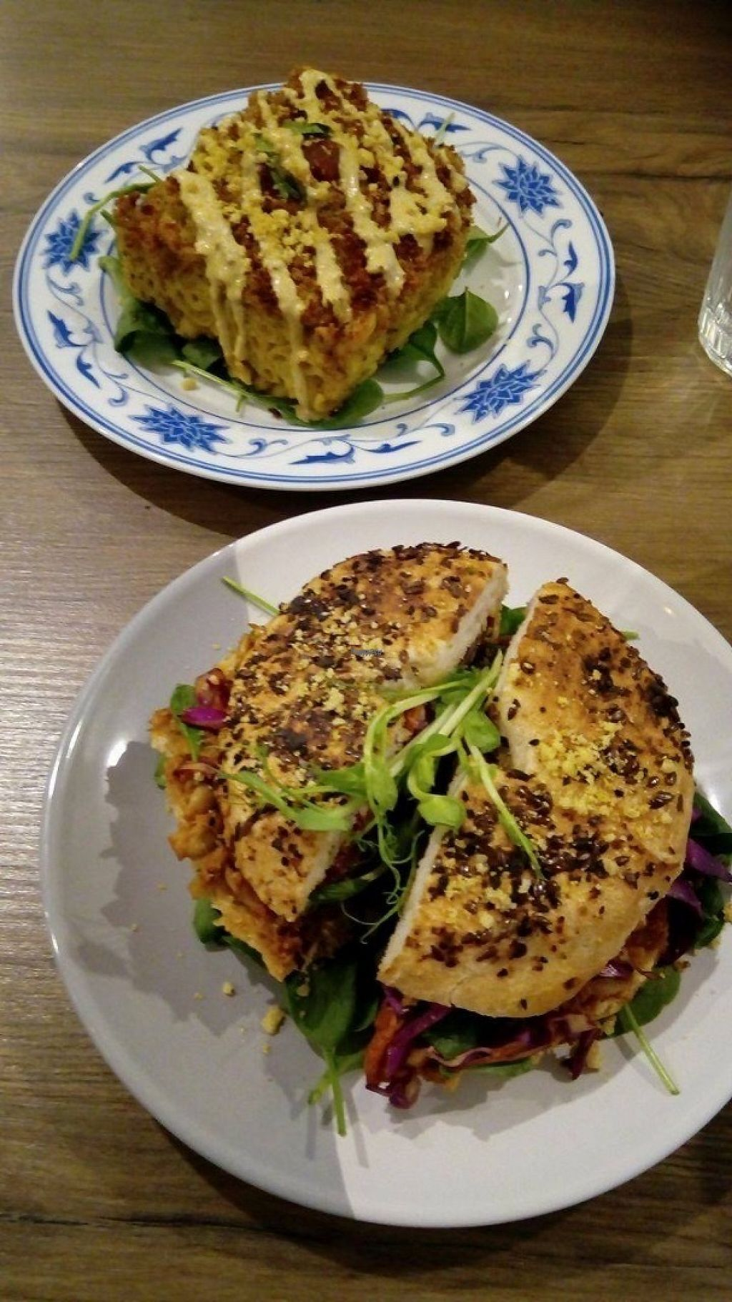 "Photo of CLOSED: Jujuberry+Co  by <a href=""/members/profile/Cynthia1998"">Cynthia1998</a> <br/>Smoky jackfruit ""pulled pork"" bagel and the vegan Mac and cheese <br/> April 6, 2017  - <a href='/contact/abuse/image/76563/245133'>Report</a>"