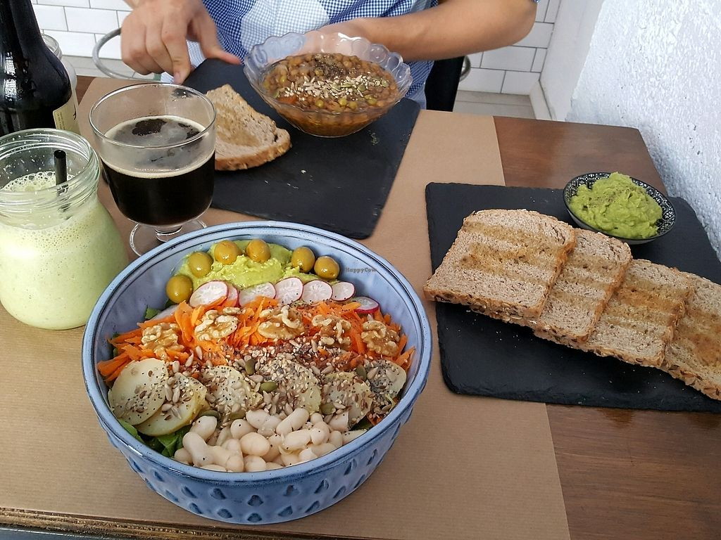 """Photo of Bioloco  by <a href=""""/members/profile/EllenNorman"""">EllenNorman</a> <br/>Salad, lentil soup  <br/> October 1, 2017  - <a href='/contact/abuse/image/76580/310601'>Report</a>"""