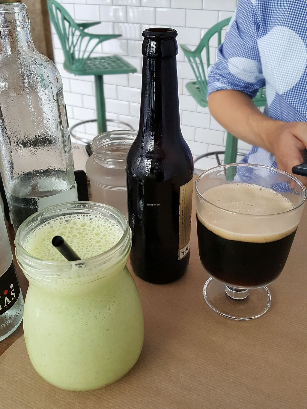 """Photo of Bioloco  by <a href=""""/members/profile/EllenNorman"""">EllenNorman</a> <br/>Craft beer and smoothie  <br/> October 1, 2017  - <a href='/contact/abuse/image/76580/310602'>Report</a>"""