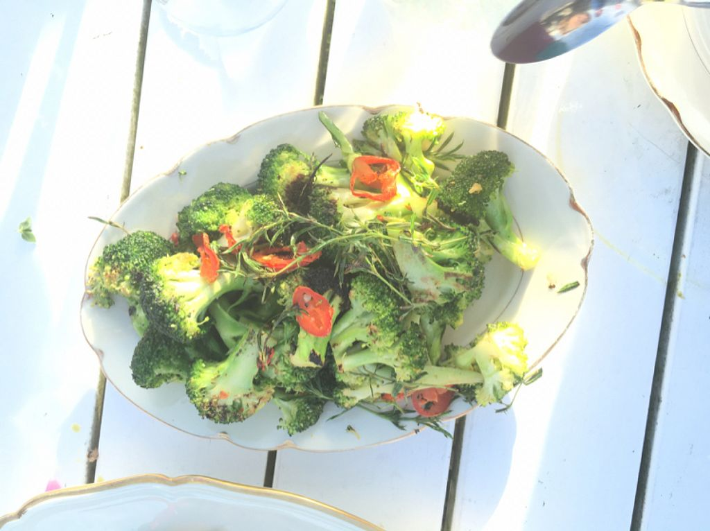 """Photo of Hornuddens Tradgard  by <a href=""""/members/profile/veganmom"""">veganmom</a> <br/>broccoli salad with fresh herbs <br/> July 15, 2016  - <a href='/contact/abuse/image/76596/160095'>Report</a>"""