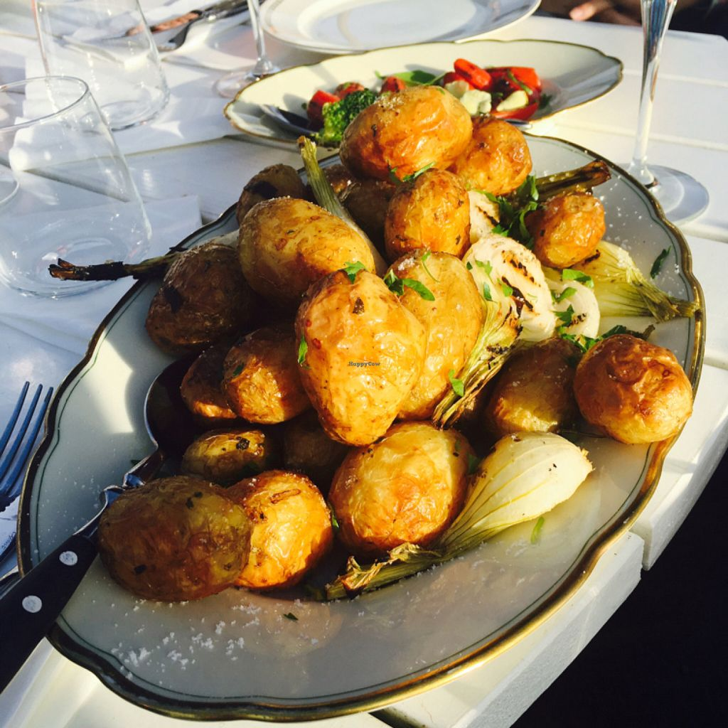 """Photo of Hornuddens Tradgard  by <a href=""""/members/profile/veganmom"""">veganmom</a> <br/>grilled potatoes & unions <br/> July 15, 2016  - <a href='/contact/abuse/image/76596/160099'>Report</a>"""