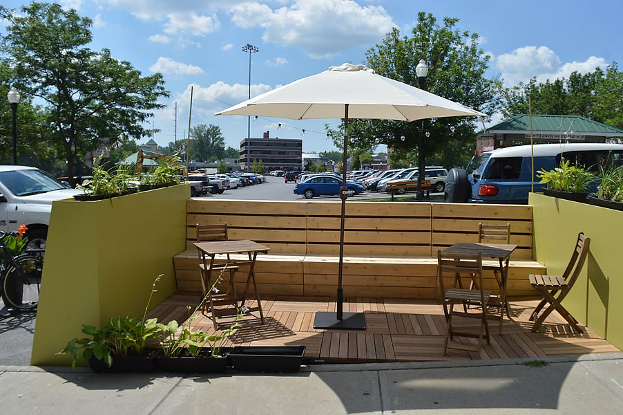 """Photo of North Country Co-op  by <a href=""""/members/profile/ncfoodcoop"""">ncfoodcoop</a> <br/>Summer seating outdoors in the parklet! <br/> August 3, 2017  - <a href='/contact/abuse/image/76640/288348'>Report</a>"""