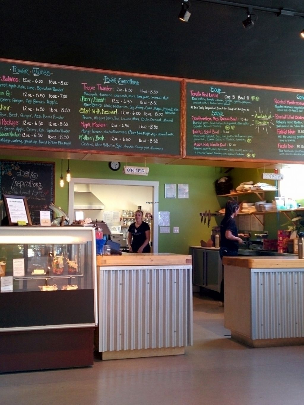 """Photo of Fruits & Roots Juice Bar  by <a href=""""/members/profile/CLRtraveller"""">CLRtraveller</a> <br/>interior of Fruits and Roots, Powell River <br/> July 16, 2016  - <a href='/contact/abuse/image/76643/160317'>Report</a>"""
