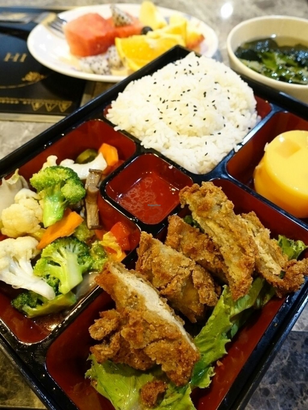 """Photo of CLOSED: Veggie King  by <a href=""""/members/profile/JimmySeah"""">JimmySeah</a> <br/>Vegetarian fried chicken rice set <br/> July 20, 2016  - <a href='/contact/abuse/image/76650/161161'>Report</a>"""