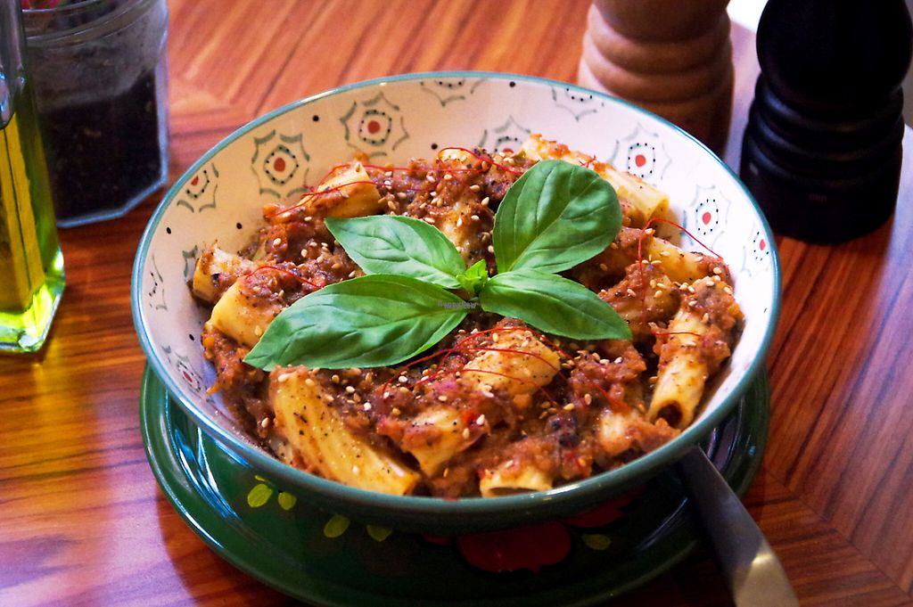 """Photo of CLOSED: Dhyan  by <a href=""""/members/profile/ashyverma"""">ashyverma</a> <br/>Pasta – Aubergine Pesto <br/> March 11, 2017  - <a href='/contact/abuse/image/76663/235269'>Report</a>"""