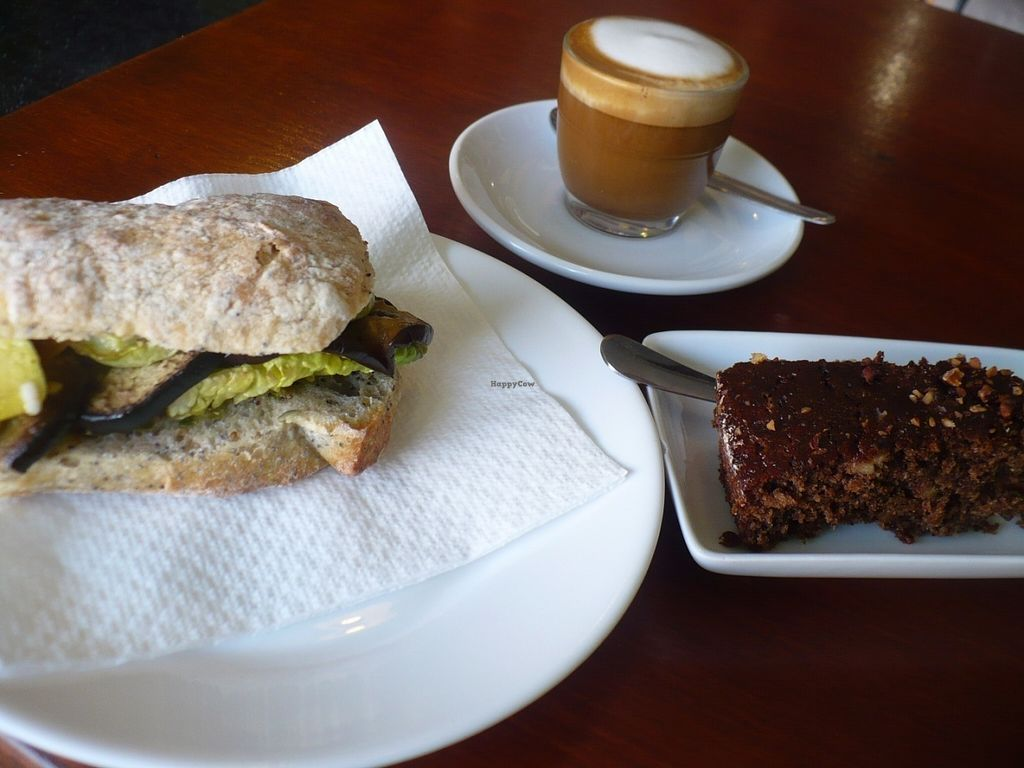 """Photo of Cecicafe  by <a href=""""/members/profile/ellengdx"""">ellengdx</a> <br/>For this delicious, fully vegan breakfast I paid less than 6e! Warm sandwich, banana and almond cake and coffee with soya milk as well as a giant cookie to go <br/> July 18, 2016  - <a href='/contact/abuse/image/76683/160750'>Report</a>"""