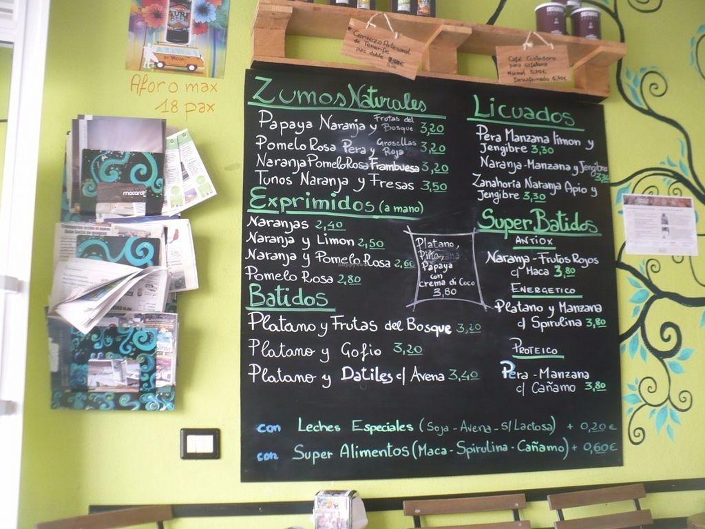 """Photo of Cecicafe  by <a href=""""/members/profile/ellengdx"""">ellengdx</a> <br/>SO much to choose from, and these are only the cold drinks! All can be made vegan. Translations available from staff.  Superfood smoothies, juices, special blends <br/> July 18, 2016  - <a href='/contact/abuse/image/76683/160752'>Report</a>"""