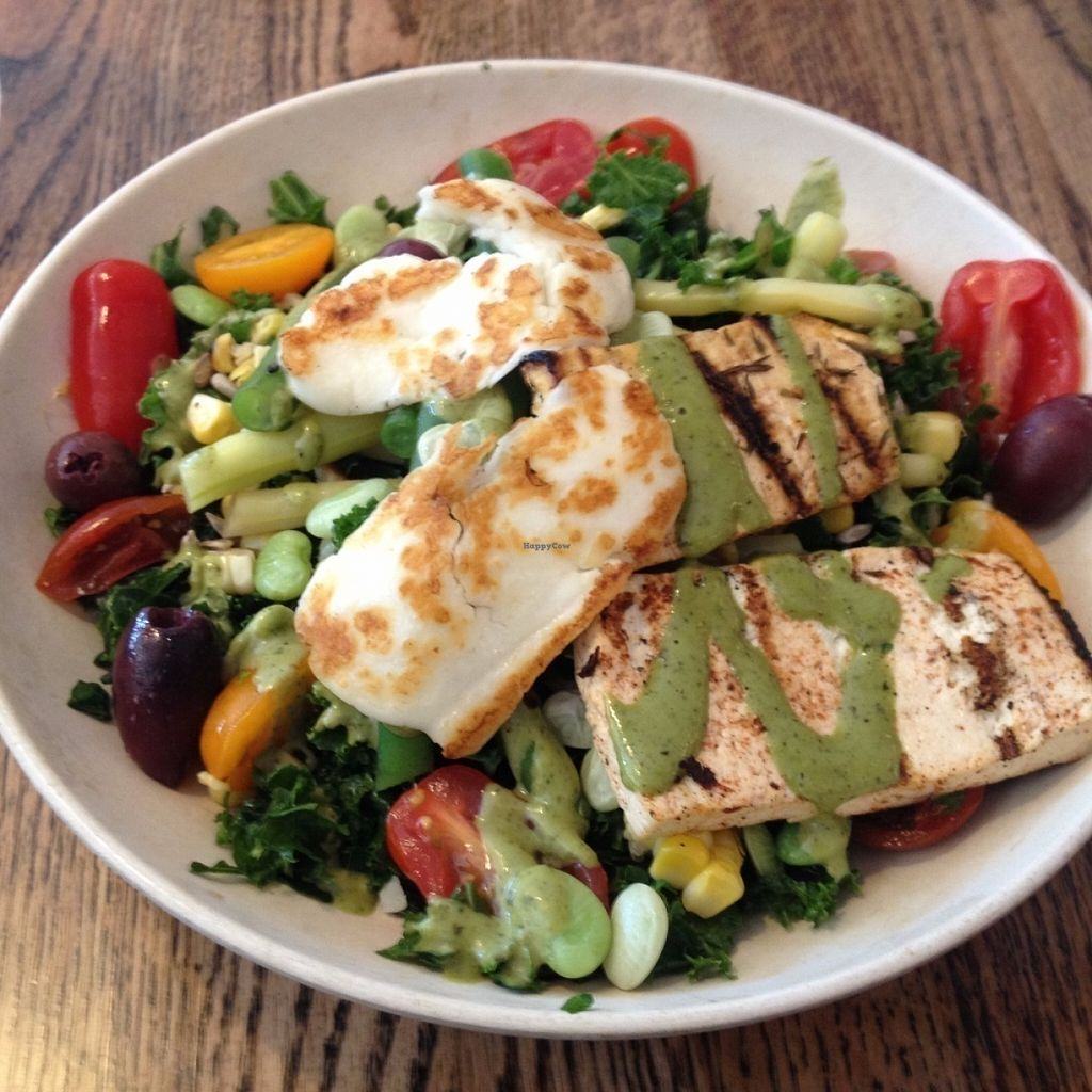 """Photo of b.good  by <a href=""""/members/profile/sophiefrenchfry"""">sophiefrenchfry</a> <br/>Farmstand tomato basil kale and grain bowl with tofu <br/> July 31, 2016  - <a href='/contact/abuse/image/76694/163953'>Report</a>"""