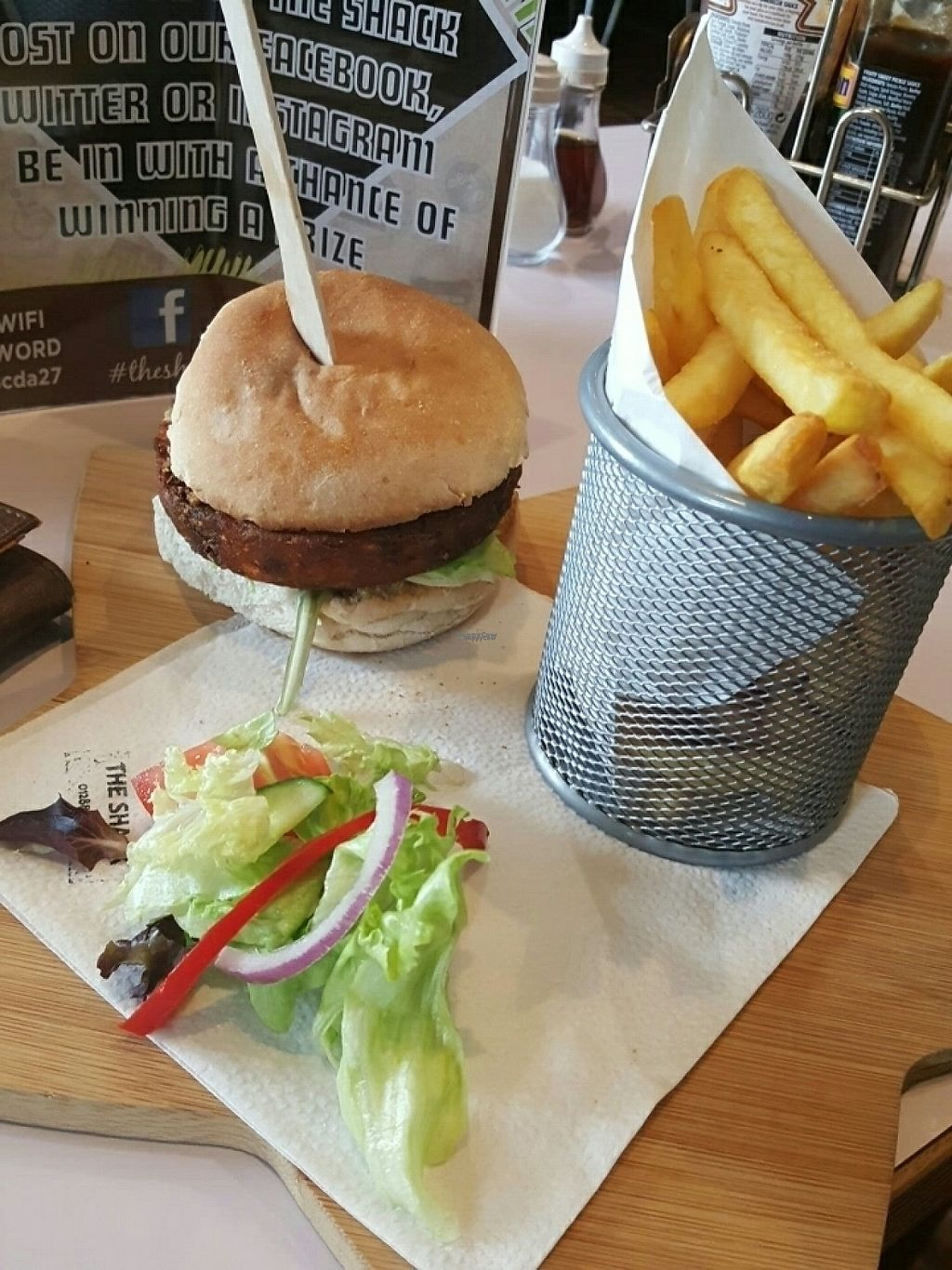 "Photo of The Shack  by <a href=""/members/profile/LeaSmith"">LeaSmith</a> <br/>bean burger & chips <br/> April 15, 2017  - <a href='/contact/abuse/image/76713/248413'>Report</a>"