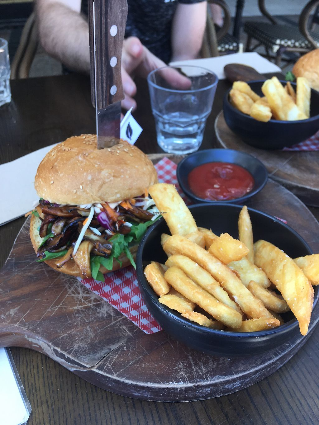 """Photo of The Hold  by <a href=""""/members/profile/EmmaDimento"""">EmmaDimento</a> <br/>Vegan Option for pulled pork burger  <br/> January 21, 2018  - <a href='/contact/abuse/image/76715/349260'>Report</a>"""