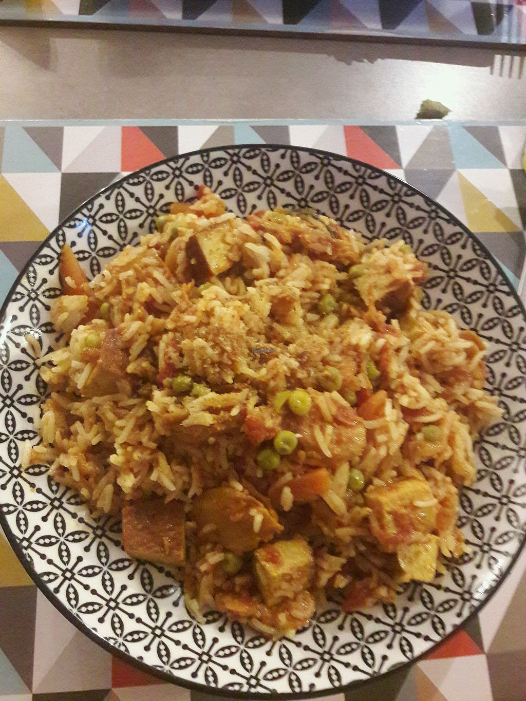 """Photo of L'Eden Sans Gluten  by <a href=""""/members/profile/SportifVegan"""">SportifVegan</a> <br/>Paella <br/> May 14, 2018  - <a href='/contact/abuse/image/76725/399678'>Report</a>"""
