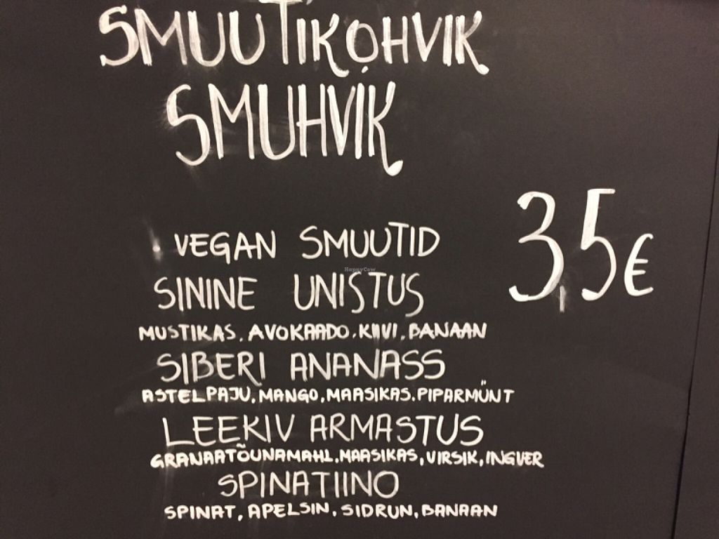 "Photo of CLOSED: Smuhvik  by <a href=""/members/profile/Morbid%20Cafe"">Morbid Cafe</a> <br/>vegan smoothie selection  <br/> July 20, 2016  - <a href='/contact/abuse/image/76726/161044'>Report</a>"